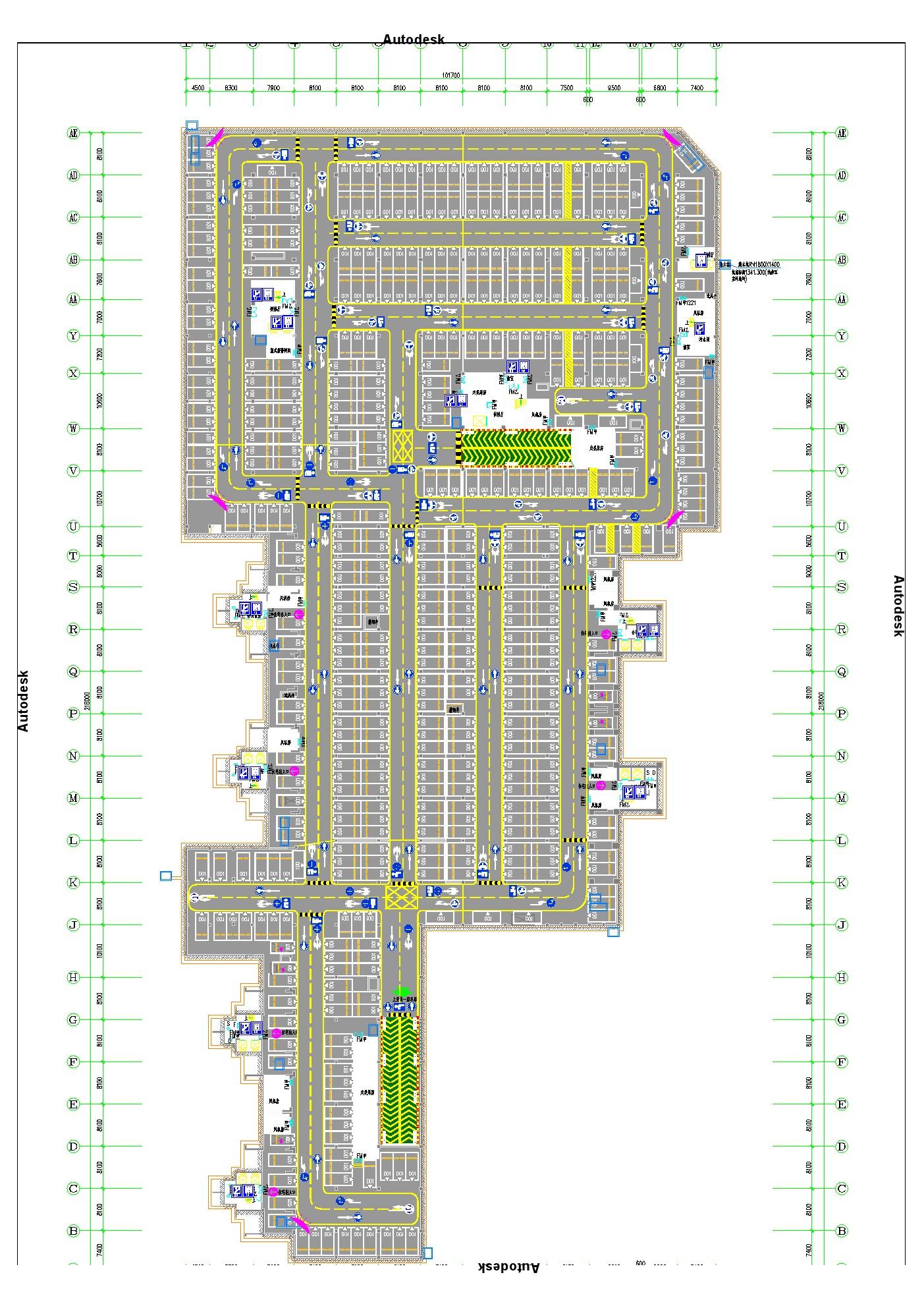 海南地下停车场平面图设计的重要性